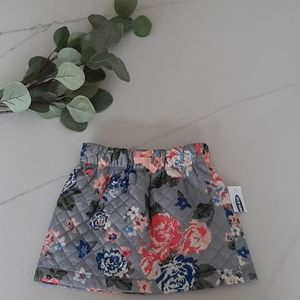 Nwt Old Navy girls floral puff skirt 2T